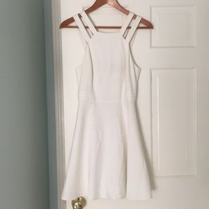 French Connection White a-line formal dress